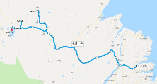 Ruta de Seydisfjordur a Myvatn - Descubriendo el mundo con Anna